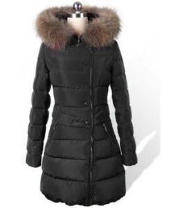 Hooded Faux Fur Embellished Solid Color Coat