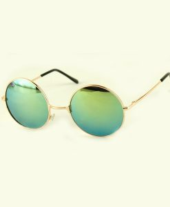 Luxury Colorful Lenses Vintage Round Sunglasses