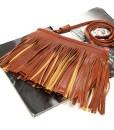 Lady PU Leather Tassel Shoulder Bag