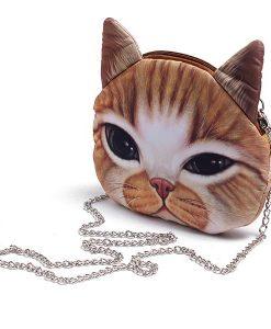 Cute Cartoon Cat Head Shoulder Bag