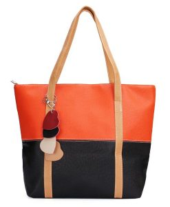 Candy Color Patchwork Handbag