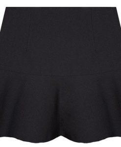 Chiffon Dress Ruffles Geometric Pattern Houndstooth Skirt
