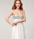 Bride Wedding Lace White Deep V Neck Formal Full Dress