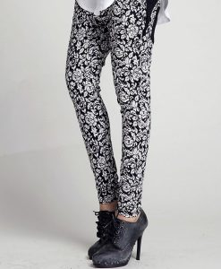 Casual Vintage White Pattern Harem Pants Trousers