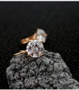 Big Zircon Crystal Gold & Silver Hoop Earrings