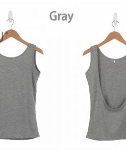 Halter Slim Camisole Black Gray Singlet