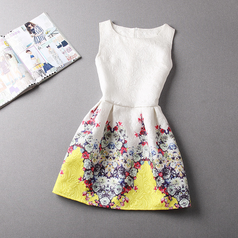 a3dc0d6163a03 A-Line Printing Sleeveless Casual Dress – GonChas