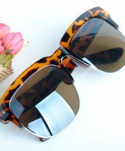 UV4OO Polarized Lens Sunglasses Half-Frame Glasses