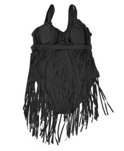 Plus Size Fringe Swimwears Tassel High Waist One Piece Swimsuits