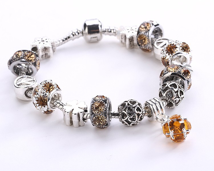 Crystal Field Of Daisies Murano Glass&Crystal Bracelets