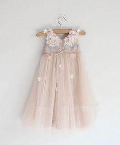 Little Girls Floral Soft Tulle Dress