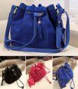 New-Fashion-Women-Tassel-Bucket-Bag-Promotion-Girl-s-Matte-Drawstring-Crossbody-Messenger-ladies-bags-bolsas