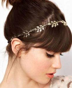 Vintage Inspired Gold Leaves Design Headband