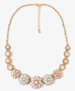 Pastel Floral Statement Necklace