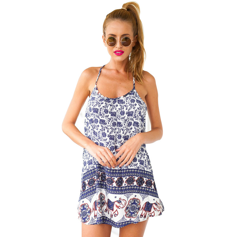 4745b70d1d1c Backless Sleeveless Print Mini Dress – GonChas