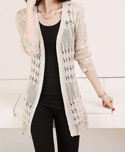 Knitted Loose Pocket Long Sleeve Cardigan