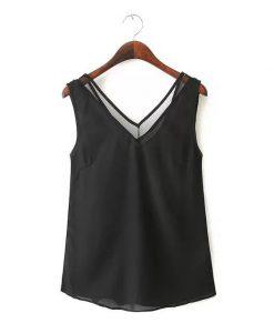 V-Neck Vest Casual Polyester Camisole Singlet