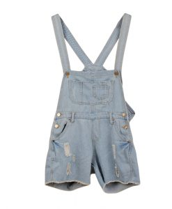 Washed Jeans Denim Casual Hole Jumpsuit Romper Overall