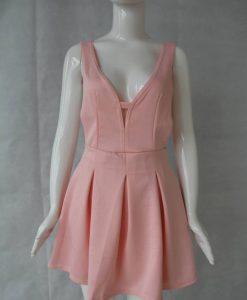 V-neck Sleeveless  Formal Dress