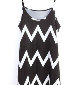 Loose Tassel Halter Zigzag Sleeveless A-line Dress