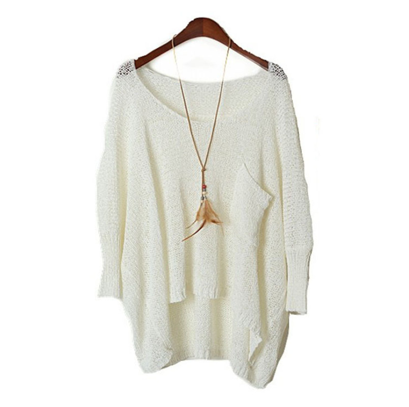 Fall Long Baggy Sweaters Batwing Knitting Sweater   GonChas