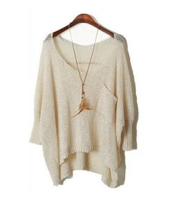 Fall Long Baggy Sweaters Batwing Knitting Sweater