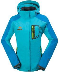 Double Layer 2 in 1 Waterproof  Windbreaker Outdoor Jacket