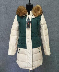 Leather Fox Fur Long Coat