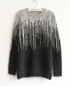 Knitted Long Sleeve Wraps Gradient Sweater