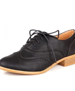 Lace Cut-out Oxfords Shoes
