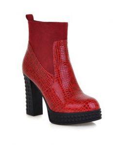Ankle Zip High Platform Shoes