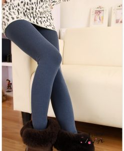 Thickening Slim Striga Plus Velvet Boot Cut Thermal Legging