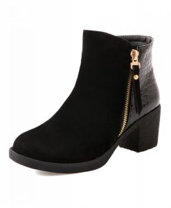 Snake PU Splicing Ankle Boots