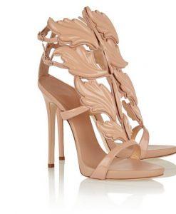 Gold Leaf Ankle Strap Gladiator Sandals