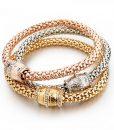 Friendship-Punk-Bracelets-For-Women-Rose-Gold-Plated-Braided-Bracelet-Femme-font-b-Indian-b-font