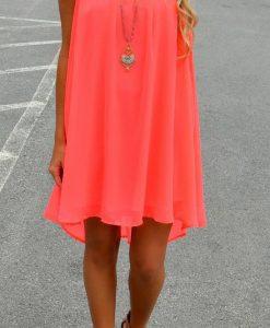 Colourful and sleeveless Summer Chiffon mini dress