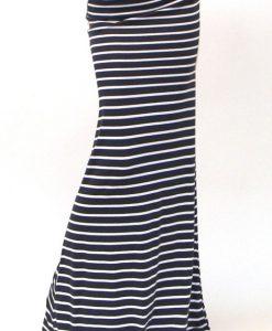 Women asymmetric High Waist Striped skirt